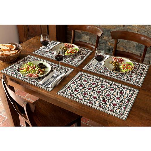 Moorish Placemats or Table Runner Lasting beauty – just wipe to clean. For indoor and outdoor use.