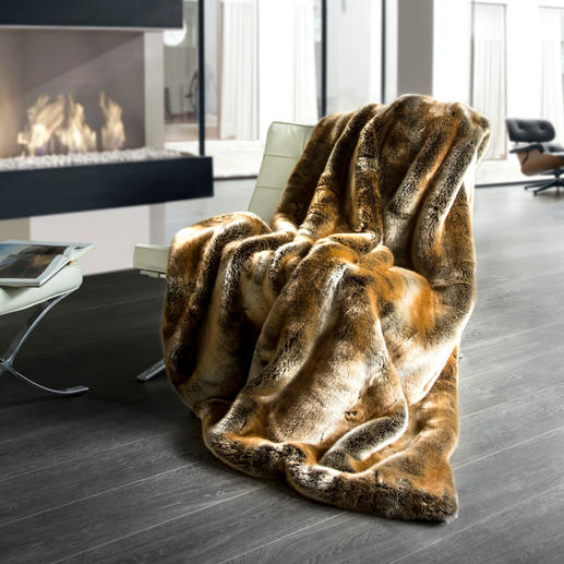 Faux Sable Fur Throw - The highest quality faux fur we've ever seen.