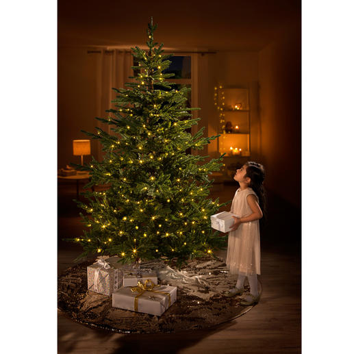 Durable Christmas Tree Chalet The realistic Christmas tree complete with LED light decoration.