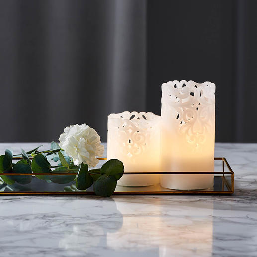 Relief LED Candles, Set of 2 Indirect mood lighting, also perfect for festive occasions.