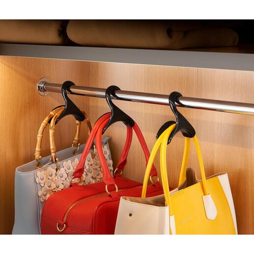 "Hand Bag Hanger ""Black Swan"", Set of 3 - Befitting storage for your favourite bags."
