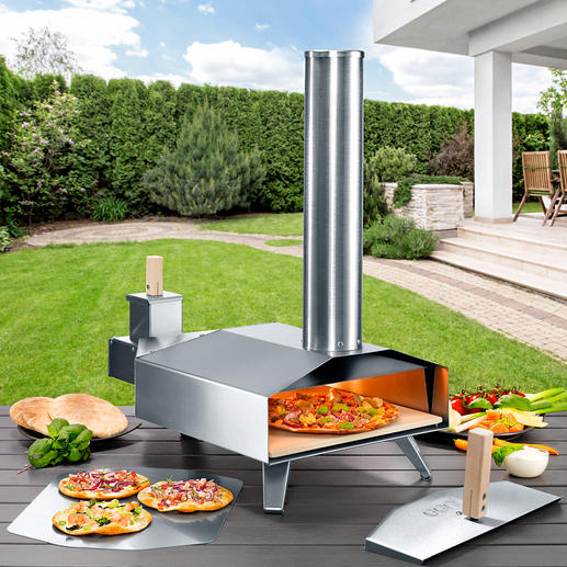 Compact Wood-burning Pizza Oven For the best stone cooked pizza just like the ones at an Italian restaurant.