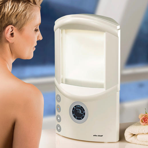 Upper Body Tanning Device An attractive, natural tan for your face and upper body.