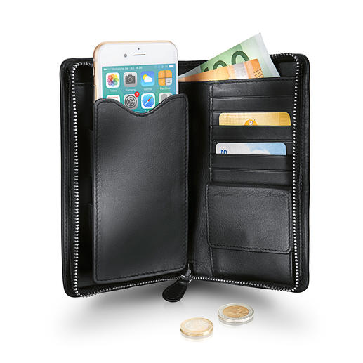 Braun Büffel Mobile Phone Wallet - Wallet and mobile phone case in one.