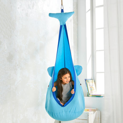 Hanging Cave Whale Exactly right for playing, dreaming, learning, cuddling, rocking, etc.