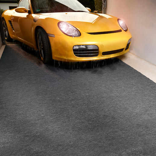Quick-Dry Garage Mat A dry garage – a clean house.