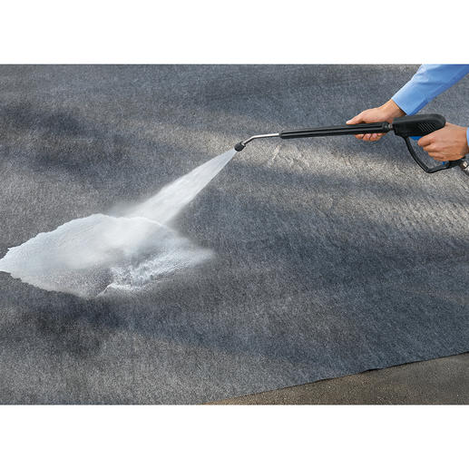 Stains or tyre marks can be completely removed with a pressure washer.
