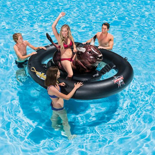 """Inflatable Bull Ride """"Inflatabull"""" - Real rodeo sensation is now a fun activity in water."""