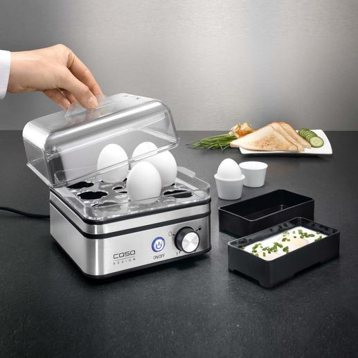 Electronic Egg Cooker Boil up to 8 eggs exactly as you wish. Without measuring water.