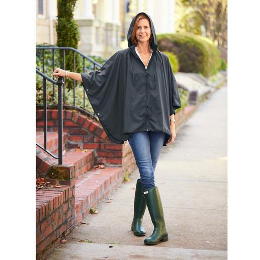 "Pocket Rain Poncho ""Sport-Style"" - Rarely is rainwear so chic and feminine."
