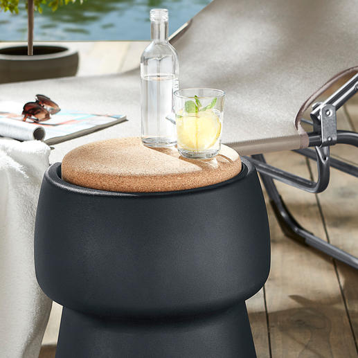 Champ Stool/Cooler - Elegant eye-catcher. Comfortable additional seat. And 15 litres of hidden storage space.