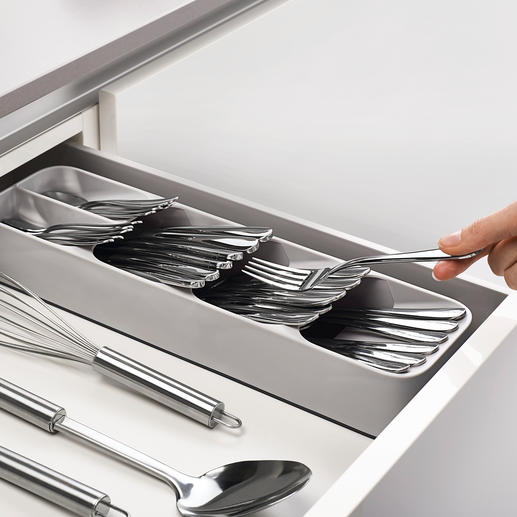 Compact Cutlery Organiser Smart cutlery organiser saves over 50% space in the drawer.