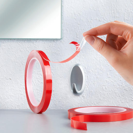 Power Tape, Set of 2 Ultra-strong double-sided adhesive tape also for use on rough surfaces.
