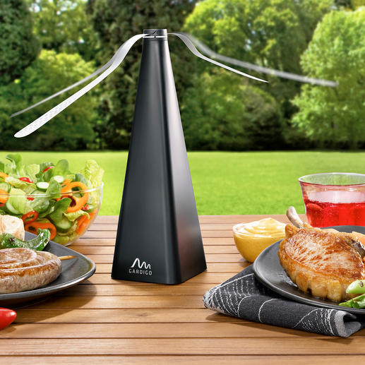 Fly Repeller Ingenious invention keeps flying insects permanently away from your food.