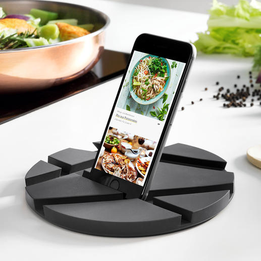 SmartMat Ingenious tablet holder for the kitchen: Space-saving and versatile.