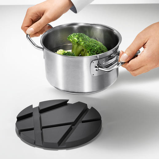 Clever: After cooking it makes an elegant trive.