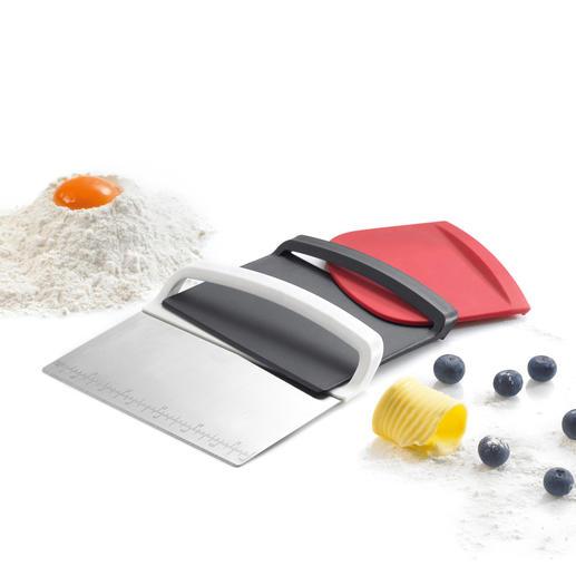 Scraper Set Dough scraper, dough cutter and spatula in a handy set.