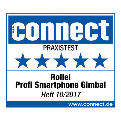 5 (out of 5) stars for the Rollei Profi Smartphone Gimbal in the field test.