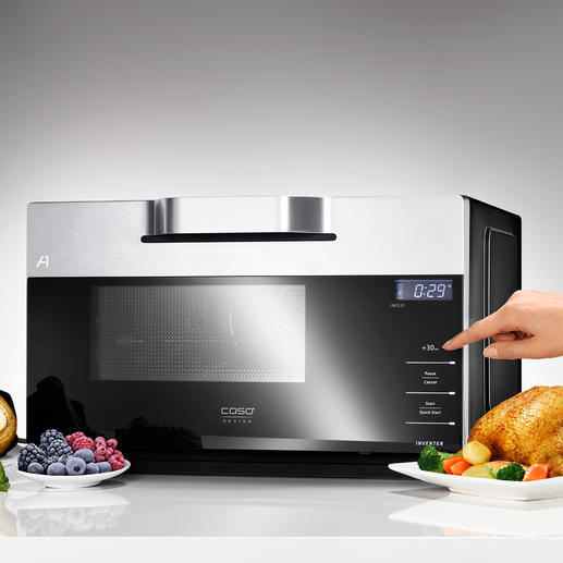 Inverter Combi Microwave IMCG25 A rare find: A microwave with grill, hot air and modern inverter technology.
