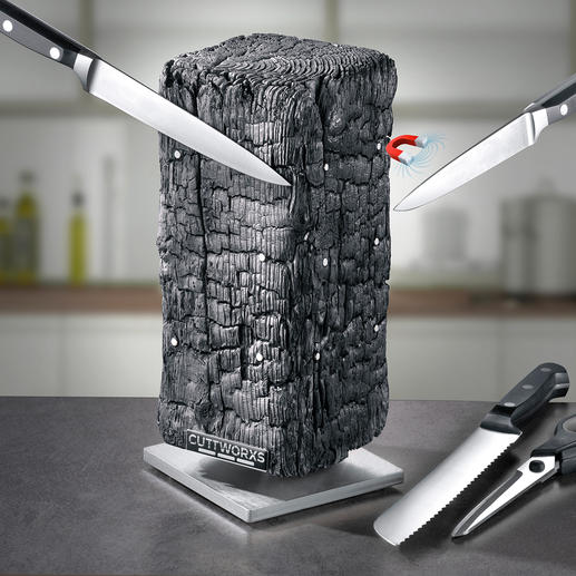 Magnetic Knife Block Pyrolith Modern sculpture? Knife block? Both!