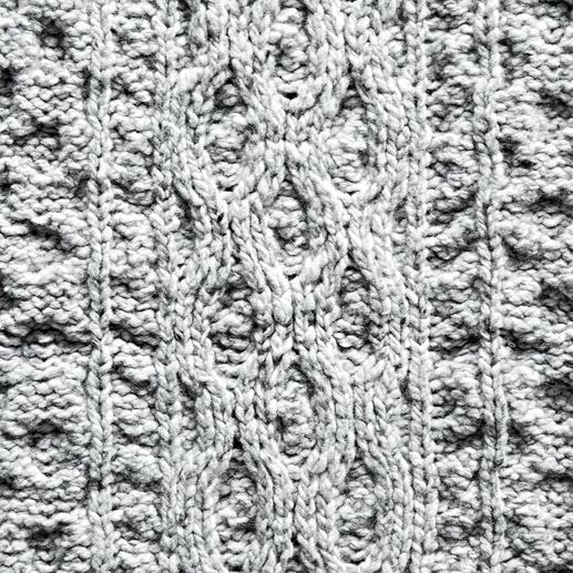 Irelands Eye Aran Knitted Throw