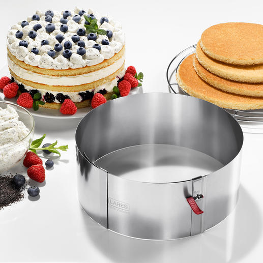 Adjustable Cake Ring with Clamping Lever The better cake ring. Premium quality, made in Germany.