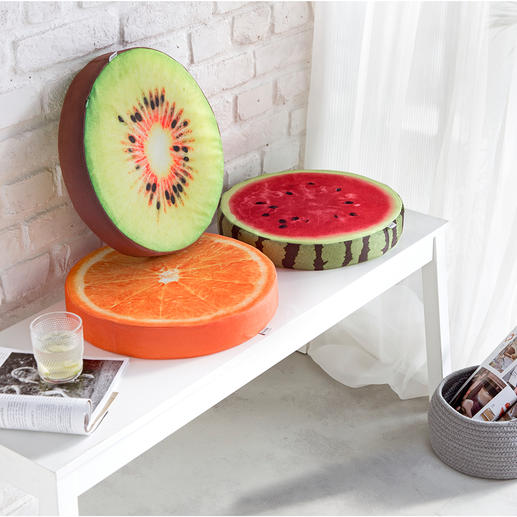 Fruit Cushions, Set of 3 - Much more comfortable and nicer than simple cushions.