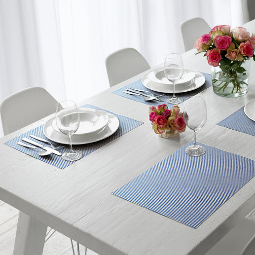 Cotton Placemat or Runner Lotus Effect Soft textile, yet easy to wipe clean.