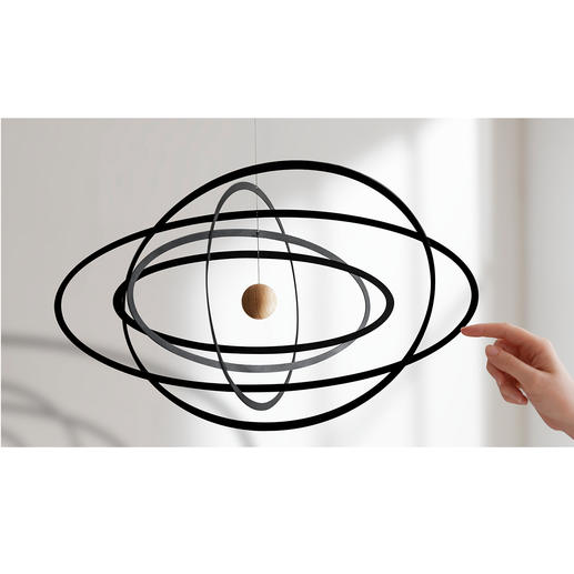 Science Fiction Ellipse Mobile Our solar system – as an artistic mobile.