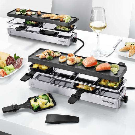 Combi Raclette - Finally, a raclette grill large enough for parties of up to 12 people.