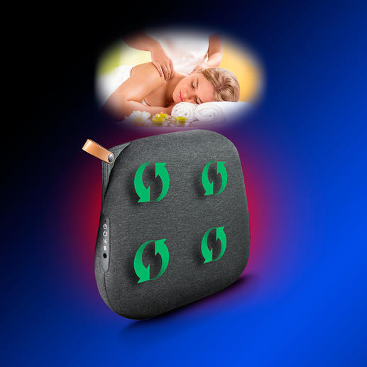 Rotating heads massage exactly as desired – with optional infrared heat.