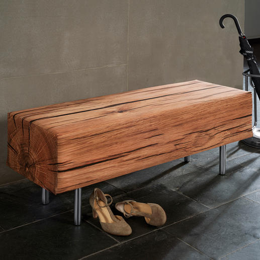 Wood Look Bench Lifelike design. For indoors and outdoors.