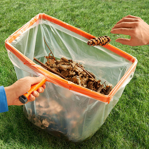 Bin Liner Holder with Wooden Stick - The perfect little helper for gardeners.