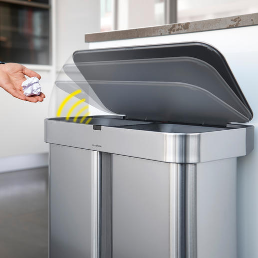 As an alternative to voice control, the waste bin can also be opened with a wave of the hand.