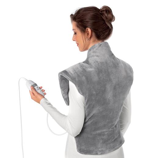 Heating and Massage Pad Heats from the hips right up to the neck and nestles perfectly around the shoulders.