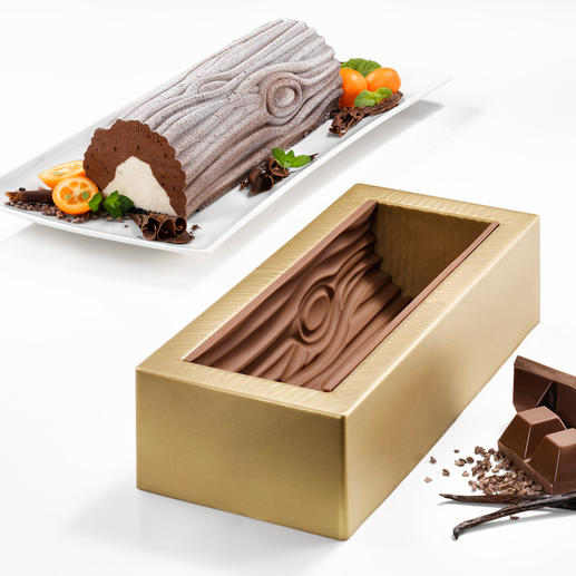 "Silikomart® Baking Mould ""Bûche de Noël"" - Now you can make the masterpiece of French baking yourself."