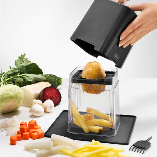 Vegetable Dicer and Slicer, 7 pieces Just some gentle pressure on the lid is enough: Carrots, kohlrabi, cucumbers ...