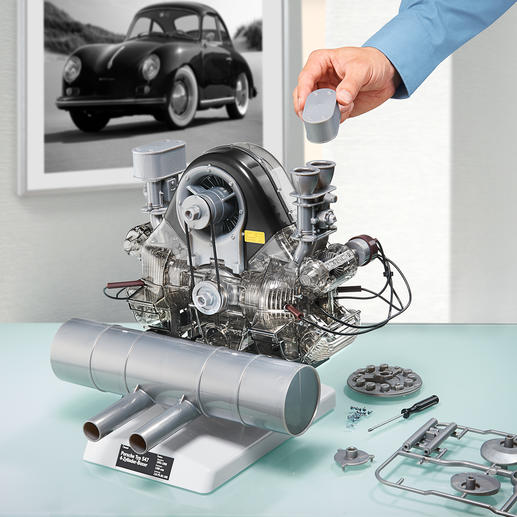 Porsche 4-cylinder Boxer Engine 547 Construction Kit - The legendary racing engine as a 1:3 scale model with moving parts. Self-build in about 5 hours.