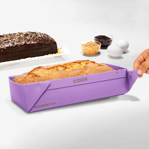 Collapsible Silicone Baking Moulds No turning upside down, no sticking. For space-saving storage.