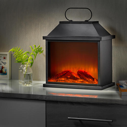 Open Fire Lantern - The atmosphere of living flames – thanks to clever LED/simulator technology