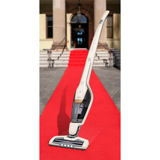 2-in-1 Rechargeable Vacuum Cleaner Ergorapido® X Flexibility Rechargeable vacuum cleaner with integrated hand-held vacuum cleaner and BedPro® power brush.