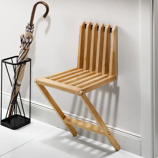 Folding Wall Stool Stylish, versatile and never in the way.