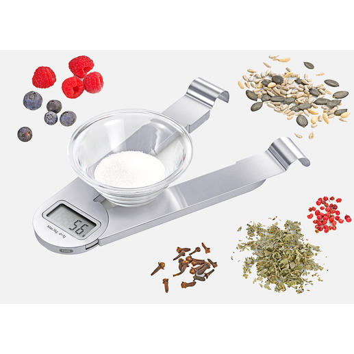 Stainless Steel Folding Kitchen Scales Fit easily in a small drawer or hang decoratively.