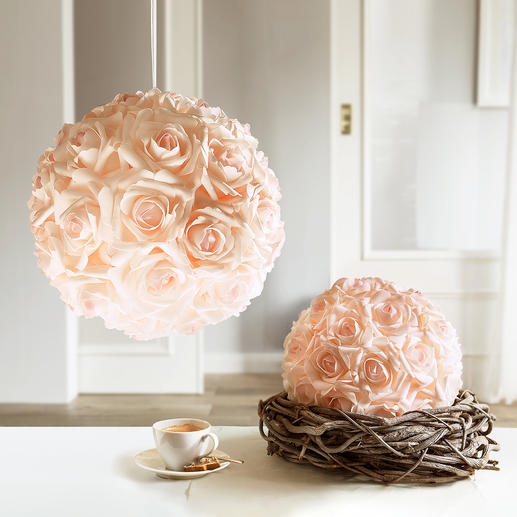 Rose Ball - Enduring beauty: Romantic rose balls – as though freshly cut.