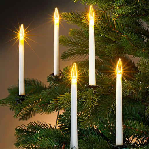 LED Tapered Candle Chain Modern interpretation: The fine way to decorate your Christmas tree.