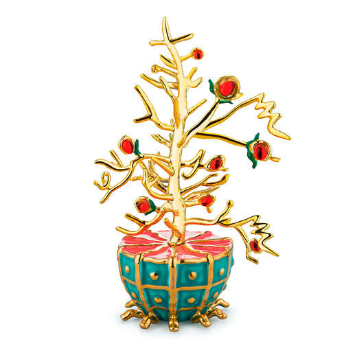 Alessi Decorative Baubles Fleurs de Jori Artfully hand-decorated porcelain baubles.