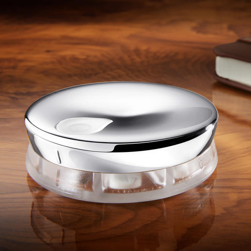 Alessi Designer Pillbox With 7 compartments and twist closure.