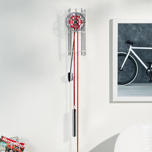 "Designer Wall-Mounted Pendulum Clock ""Wheel"" The beauty of pure mechanics."