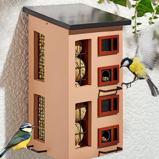 Triple Compartment Feeder Stylish modern architecture. Swedish design.