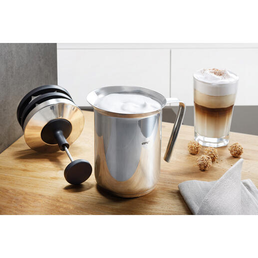 Gefu® Double Strainer Milk Frother For perfect milk froth in less than 60 seconds.